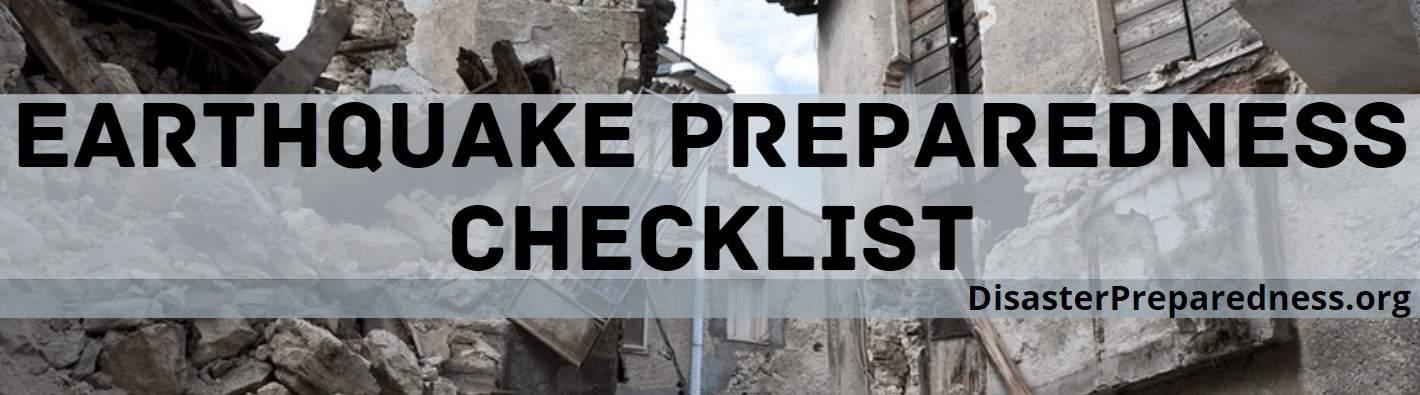 Earthquake Preparedness Checklist