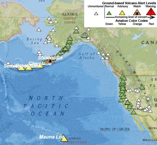 USGS Volcanic Activity Monitor